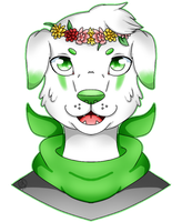 C: Flower dog by Pinkwolfly
