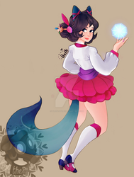 Dinasty Ahri by TheFlyFlies