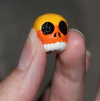 Candy Corn Skull 41 SOLD by angelacapel