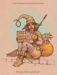 Unemployed witch by Peyotero