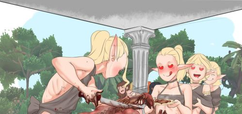 elf and foods by Snifer25