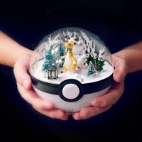 Mega Ampharose Christmas - Poke Ball Terrarium by TheVintageRealm