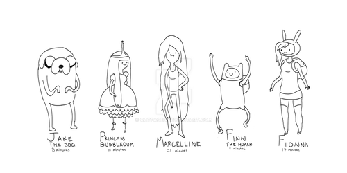 Adventure Time Speed Drawings by catfaced