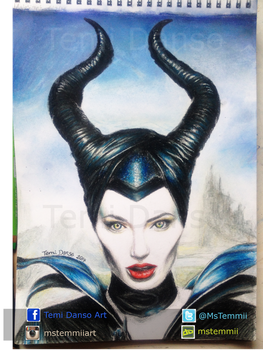 Maleficent Drawing by MsTemmii