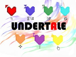 UNDERTALE HEARTS cursors by Tani-chan03