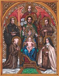 Patron Saints Family Icon by Theophilia