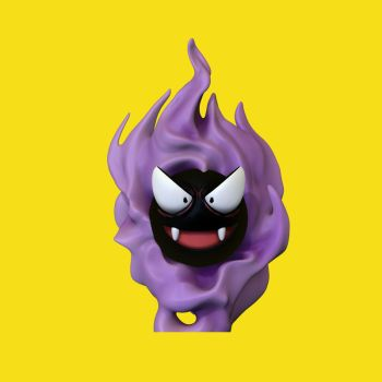 Gastly Pokemon 3D by jonadvargas