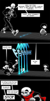 Jumbletale - (Pacifist Route) Sans boss fight by peachiekeenie