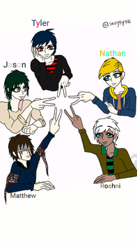 My new oc characters! by wildewomen19