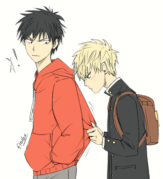 Followed by a young Genos by Florbe