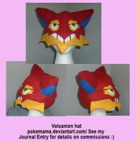 Volcanion hat by PokeMama