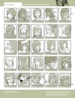 25 Expressions: Maia by fox-orian