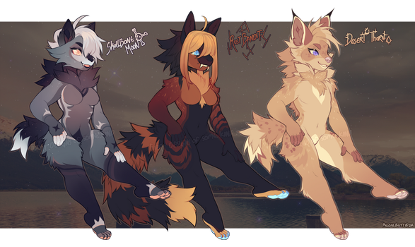 [Auction] Wolven Crew (1 left) by PhloxeButt