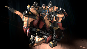 6 Pyros, 1 Scout by Sketchl