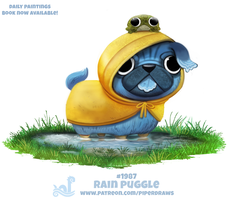 Daily Paint 1987# Rain Puggle by Cryptid-Creations