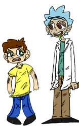 Rick and Morty by Cynical-Bones