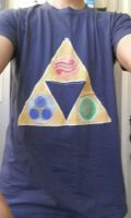 T-Shirt Triforce by Envorenn