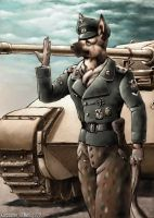 Panzer And German Shepard by GeneralTate