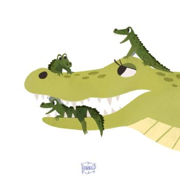 Alligator Mum by l3onnie