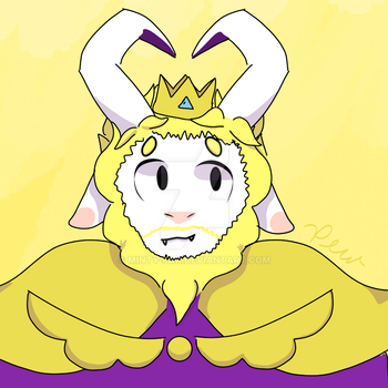 King Asgore by Minty-Fax