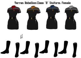 Terran Rebellion Officers Class B Uniform Female by docwinter