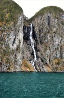 A waterfall into fjord 2 by Furuhashi335