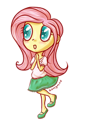 Fluttershy Chibi by zomgmad
