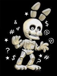 FNAF World - White Rabbit by AricaTuesday