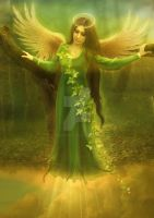 Angel Chamuel by babsartcreations