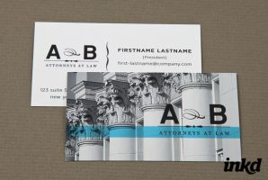 Classic Law Firm Business Card by inkddesign
