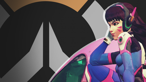 Overwatch Side Profile Wallpaper - DVA by PT-Desu