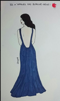 Blanche et sa robe bleue par @alicegonth by mayagally