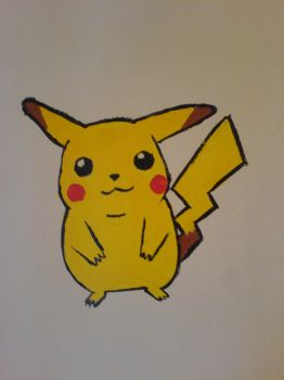 pika wall painting by DisgruntledMoo