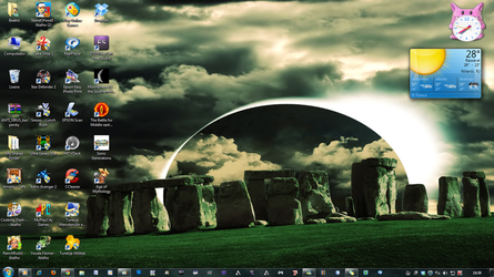 my desktop. by Meowzzie