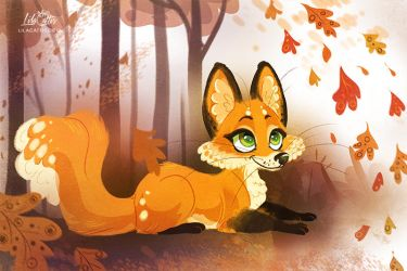 Autumn Fox by LilaCattis