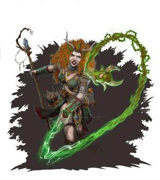 Druid Spell: Thorn Whip by GraphicGeek