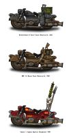 Fallout Motorcycles - Armies of the Mojave by penguin-commando