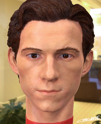 Tom Holland 3D headsculpt render by Chenks-R