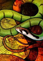 Green Keelback by Culpeo-Fox