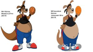 Kevin by me and MCsaurus comparison by b1k