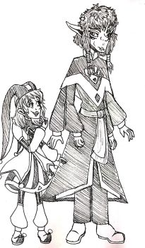 Genderswapped Calibri and Cicero by Violyd