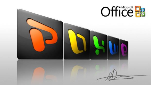 CS4 Icons - Office - Dark by technia