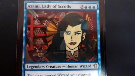 Asami, Lady of Scrolls by dairykwing