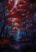 Keeping silence: red forest by artMARUSIK