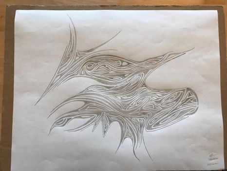 Bird in Nest--WIP submission scribble challenge  by VGBNEM