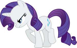 Rarity - Angry Walk by Delphince