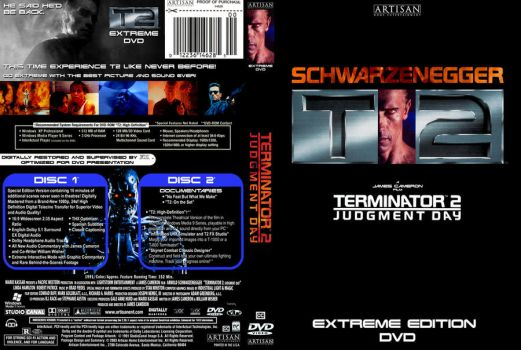 TERMINATOR 2 'EX' DVD Cover by YoshioKun13