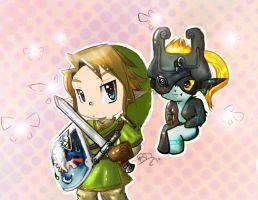 Link and Midna by October-Shadows