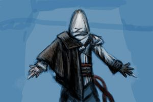 Assassin's Creed sketch by Daoneandonlystevy