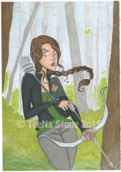 Katniss the mockinjay by TeeNaStoNe